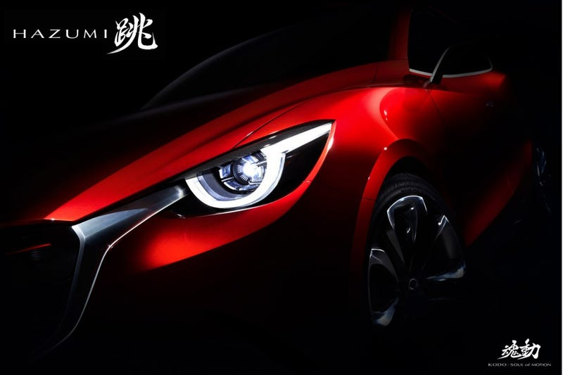 Illustration for article titled The Mazda Hazumi Concept Is Probably The 2015 Mazda2