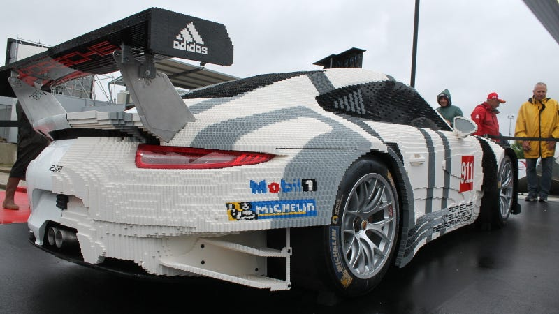 Illustration for article titled Half Of This Porsche Is Made Of Lego Bricks