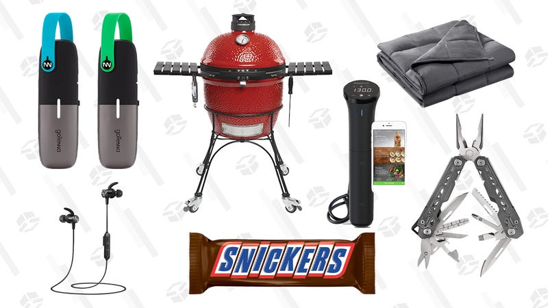 Illustration for article titled Thursday's Best Deals: Outdoor Gear, Weighted Blankets, Giant Snickers, Headphones, and More