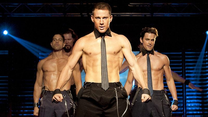 Channing Tatum and some muscles in Magic Mike