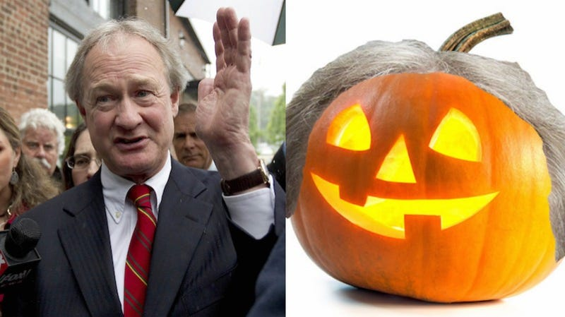 Illustration for article titled What Would Happen If We Put Lincoln Chafee's Hair On Different Autumnal Objects?