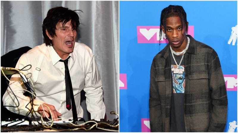 Tommy Lee yelling at Travis Scott