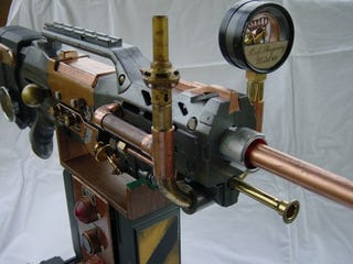 Illustration for article titled Steampunk Nerf Rifle Lets You Get Victorian on Someone's Ass