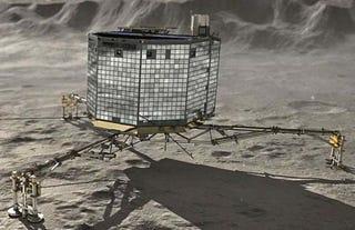 Illustration for article titled Philae despierta de nuevo y vuelve a enviar datos desde el cometa 67P