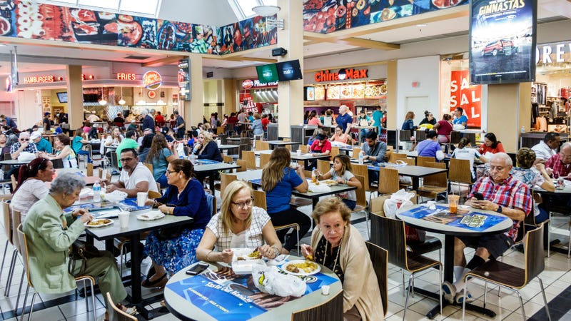 Illustration for article titled America's dying malls found a savior: food courts