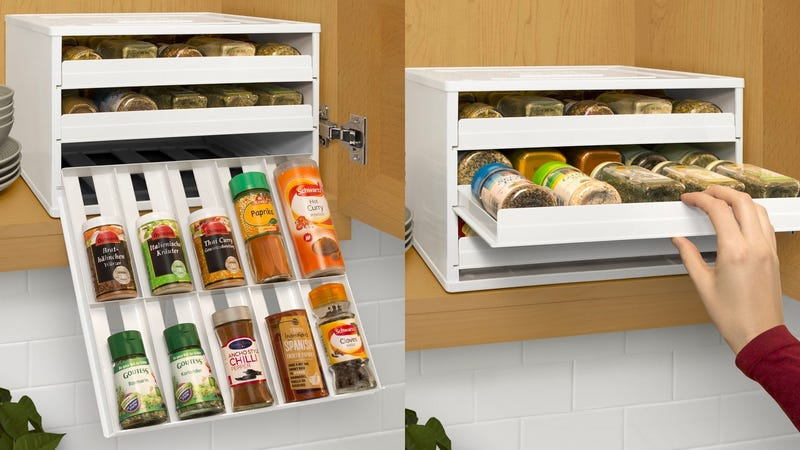 YouCopia Chef's Edition SpiceStack 30-Bottle Spice Organizer with Universal Drawers | $32 | Amazon
