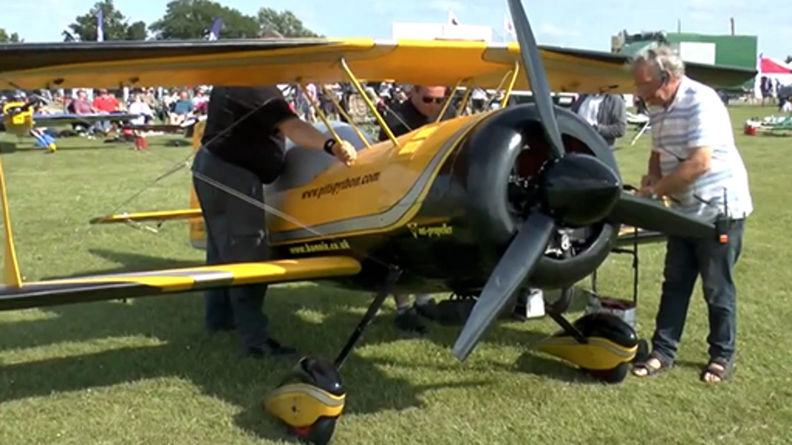 These giant RC airplanes are so huge that you can fly a kid inside