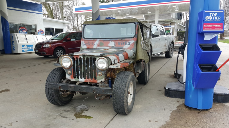 Illustration for article titled My 1948 Farm Jeep Made It 300 Miles To Indiana