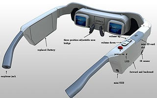 Illustration for article titled Qingbar GP300, World's First Wireless Video Glasses