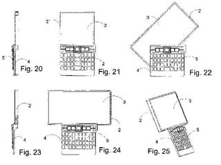Illustration for article titled New Nokia Smartphone Patent Features Swiveling Widescreen and QWERTY