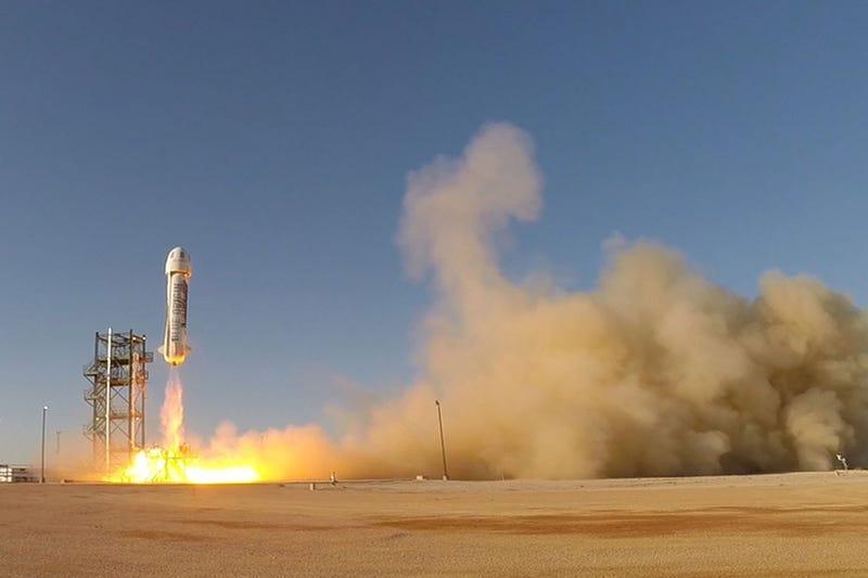 An earlier New Shepherd launch (Image: Blue Origin)