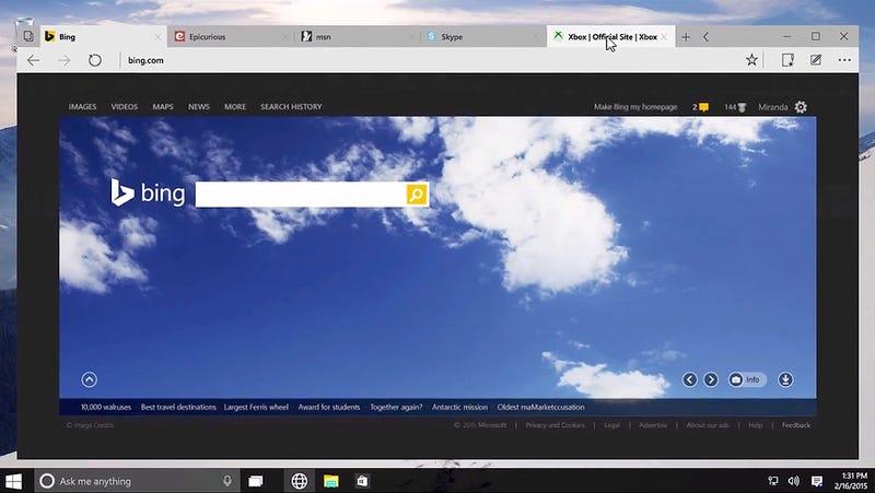 Adiós IE, hola Spartan: cómo funciona el nuevo navegador de Windows 10