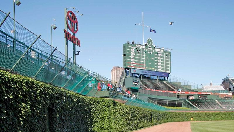 Illustration for article titled Theo Epstein Disgusted To Find Cubs Playing In Old Stadium With Weeds Growing All Over Walls