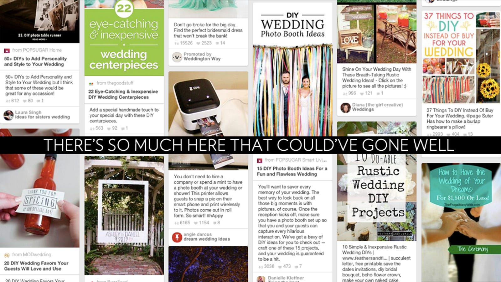 Five Godawful Wedding DIY Ideas From Pinterest