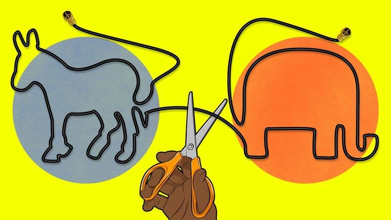 No hace falta televisión por cable para ver el debate, puedes verlo en streaming. Ilustración: Sam Woolley
