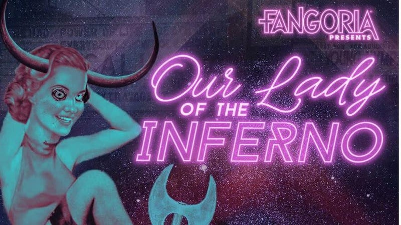 Illustration for article titled Horror legend Barbara Crampton to lead the audiobook cast of Fangoria's Our Lady Of The Inferno