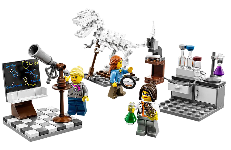 Illustration for article titled The Lady-Scientist Lego Set Is Now Available!