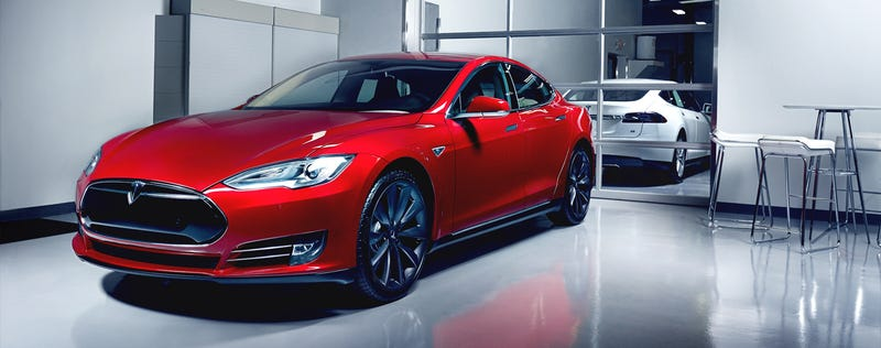 Illustration for article titled Your Ridiculously Awesome Tesla Model S Wallpaper Is Here