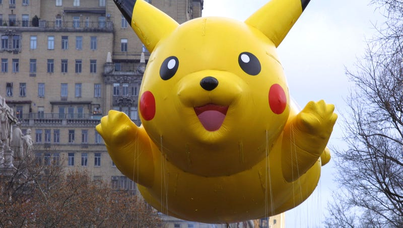 Illustration for article titled Man Pissed After Becoming Trapped In Macy's Thanksgiving Day Parade While Out Walking Giant Pikachu Balloon