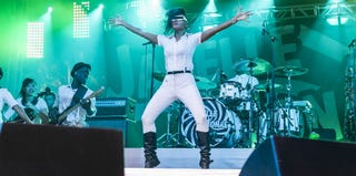 Janelle Monae performs at Coachella Music Festival in April 2013. (Rich Polk/Getty Images)