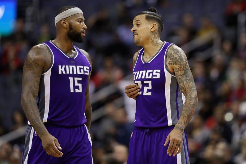 DeMarcus Cousins and Matt Barnes of the Sacramento KingsRob Carr/Getty Images