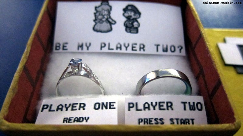 Illustration for article titled With a Mario Marriage Proposal This Super, How Could He Say No?