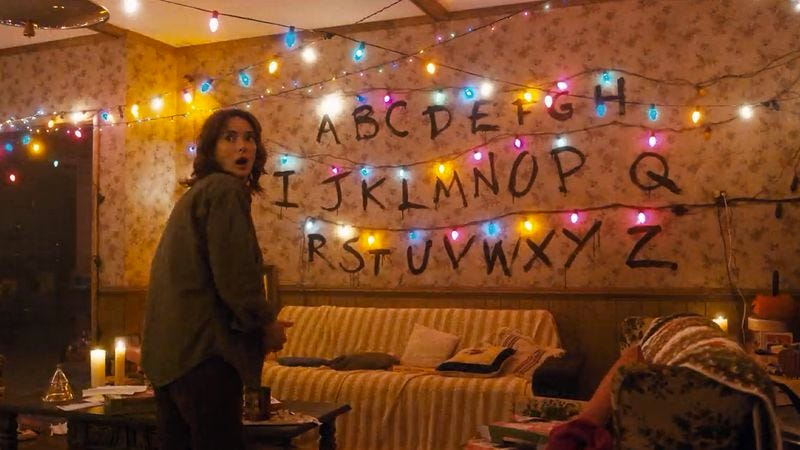 A Stranger Things Christmas.Make Your Own Stranger Things Christmas Light Messages