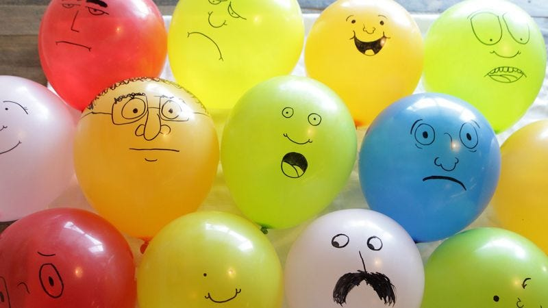 Illustration for article titled 12 Balloons That Are Eerily Human