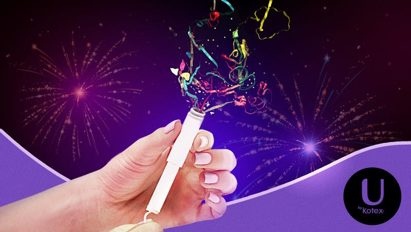 Illustration for article titled Kotex Introduces New Confetti Popper Tampons For Ringing In The New Year
