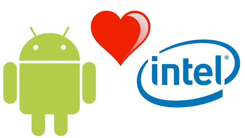 Illustration for article titled Android and Intel Are Together at Last