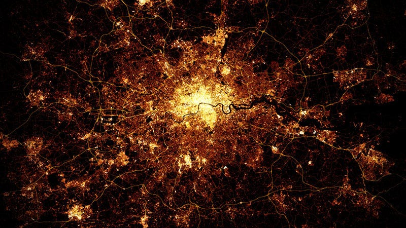 Illustration for article titled These Stunning Satellite Images of Cities Were Really Made With Data