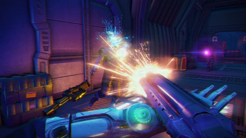 Illustration for article titled Far Cry 3: Blood Dragon Screenshots Show, Yup, This Expansion Is 80s Crazy