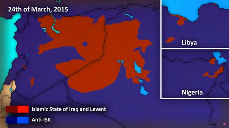 This Animated Map Of ISIS Expansion In Syria Iraq And Beyond Is - Animated map of us expansion
