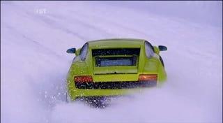 Illustration for article titled Fifth Gear Plows Lamborghini Gallardo LP560-4 Through The Snow