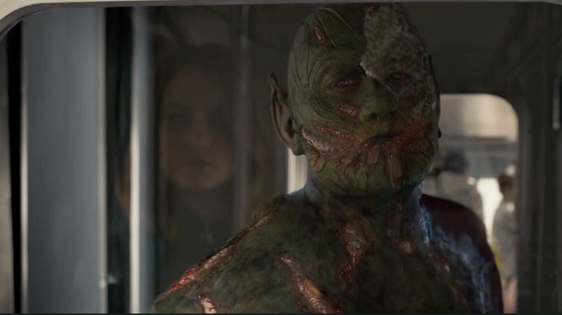 "The Skrulls aren't only menacing, they've mastered the art of the ""sarcastic kissy face."""