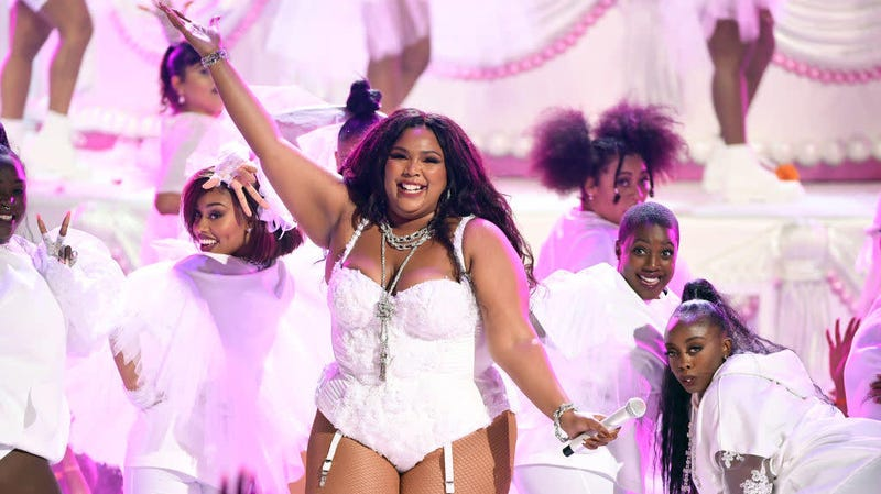 Lizzo performs onstage at the 2019 BET Awards in Los Angeles, June 23, 2019.