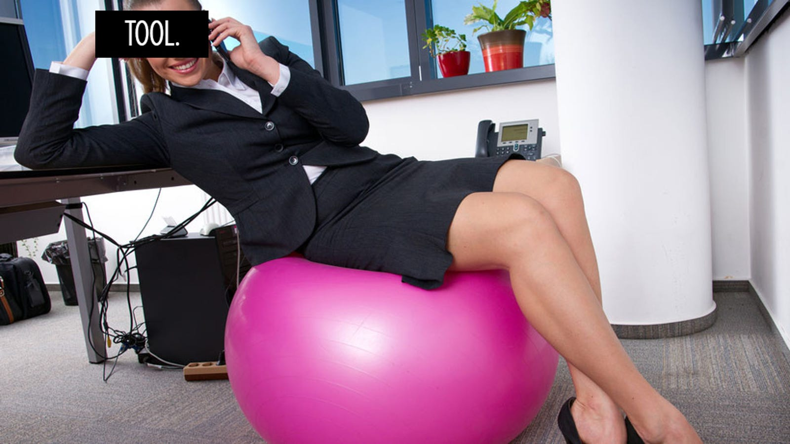 Enjoyable Sitting On An Exercise Ball At Work Yields No Results Other Home Interior And Landscaping Ponolsignezvosmurscom