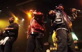 Rappers Raekwon, Inspectah Deck and Ghostface Killah of the Wu-Tang Clan perform at Best Buy Theater in New York City Dec. 29, 2010.Astrid Stawiarz/Getty Images