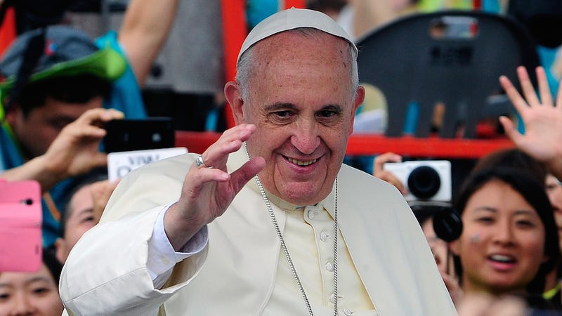 """Illustration for article titled The Pope Will Marry Couples Deemed to Be """"Living in Sin"""""""