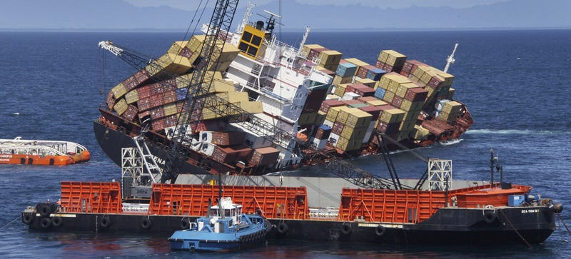 Illustration for article titled Shipping Containers Lost at Sea and the Search for Flight 370