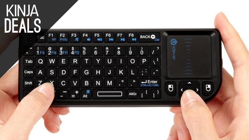 Illustration for article titled This Tiny Keyboard and Trackpad is Ideal for HTPCs