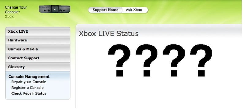 Illustration for article titled Xbox Live is Fixed. [Updated]