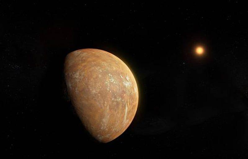 Concepción artística del planeta en torno a la estrella de Barnard.
