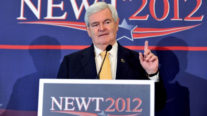 Illustration for article titled Gingrich Privately Regretting Not Doing 'More Jew Stuff' On Florida Campaign Trail