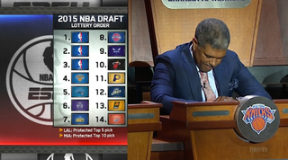 Illustration for article titled Timberwolves Will Draft First, Knicks The Big Loser Of The Lottery