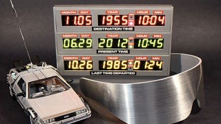Illustration for article titled Someone Please Make Me This Back to the Future DeLorean Clock
