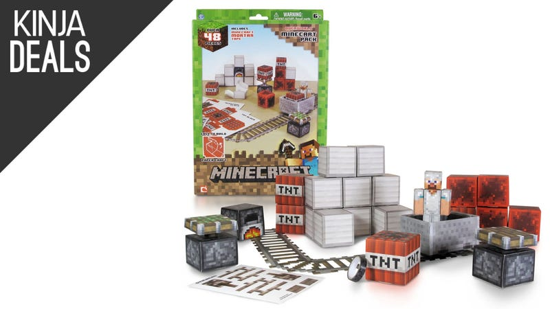 Illustration for article titled Play Real-Life Minecraft With This $11 Papercraft Set