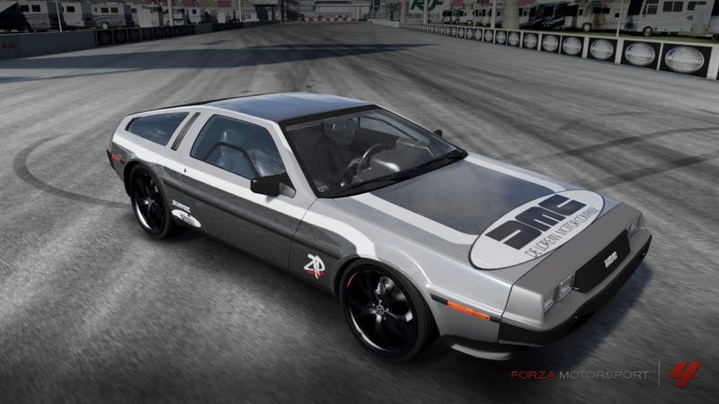 Illustration for article titled The winner of our DeLorean Forza 4 wrap contest is…