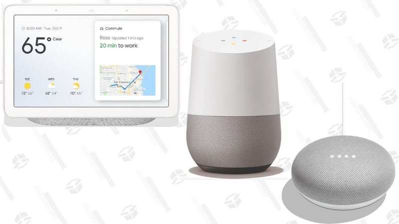 Google Home Mini | $25 | WalmartGoogle Home | $79 | WalmartGoogle Home Hub | $99 | Walmart | Plus $10 VUDU Credit