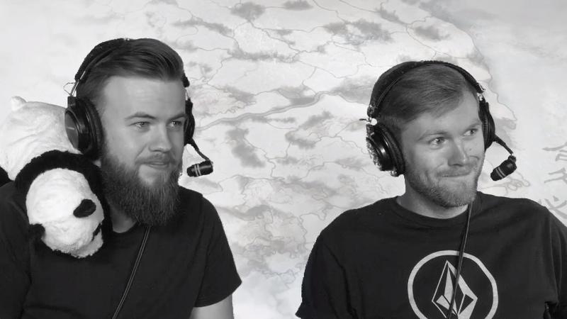 "Michael ""Wheels"" Whelan (left) on his final Total War Twitch stream."